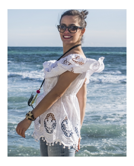 CAMISA EMBROIDERIE POMPON